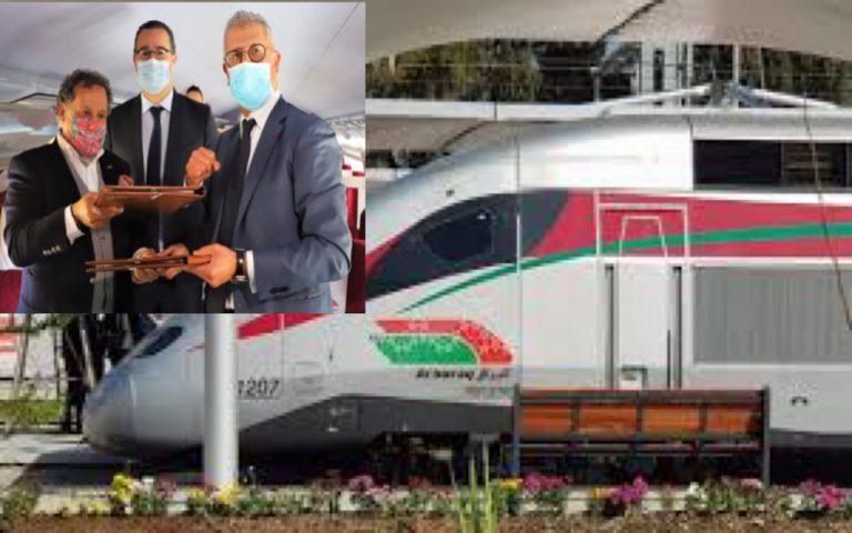 """وزير الثقافة و مدير السكك الحديدية و رئيس متاحف المغرب يوقعون إتفاقية على متن """"البوراق"""""""