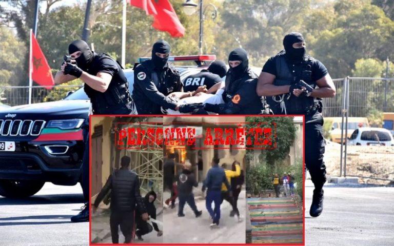 فرقة مكافحة العصابات للشرطة القضائية توقف عصابة مكونة من تسعة اشخاص طنجة
