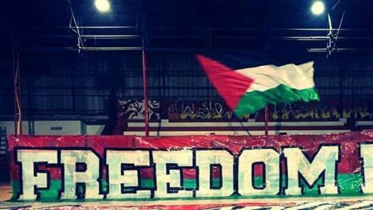 الوينرز يعرب عن تضامنه مع الشعب الفلسطيني