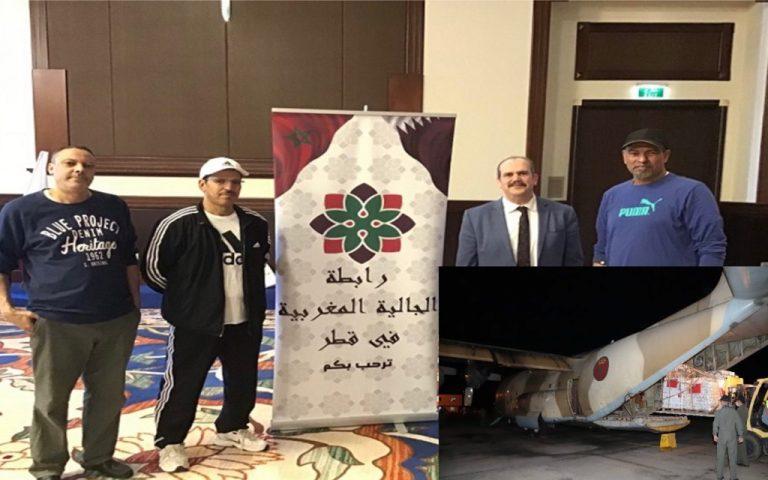 اعتزاز من قطر بإرسال المغرب مساعدات إنسانية عاجلة للفلسطينيين