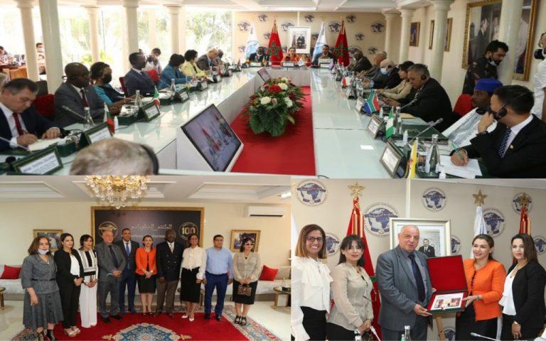 الجمعية المغربية لحقوق الضحايا في ضيافة أعضاء السلك الدبلوماسي