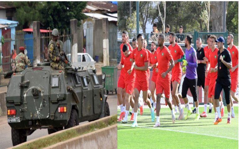 المنتخب الوطني الأول لكرة القدم يعيش على أعصابه بدولة غينيا كوناكري