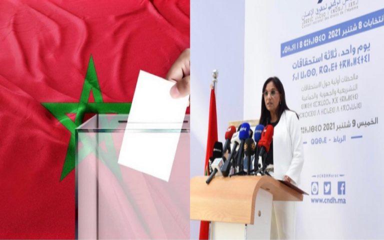 المجلس الوطني لحقوق الإنسان يصدر تقريره حول الاستحقاقات الانتخابية